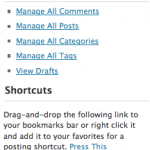 New bookmarklet wordpress2.6